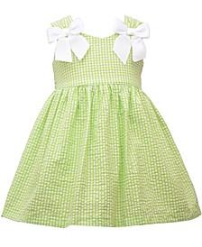 Toddler Girls Shirred Strap Waistline Seersucker Dress