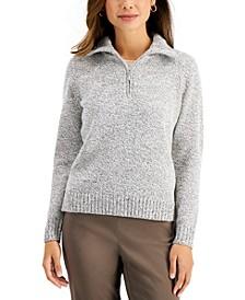 Petite Marled Wing-Collar Sweater, Created for Macy's