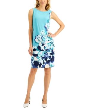 Placed-Print Shift Dress
