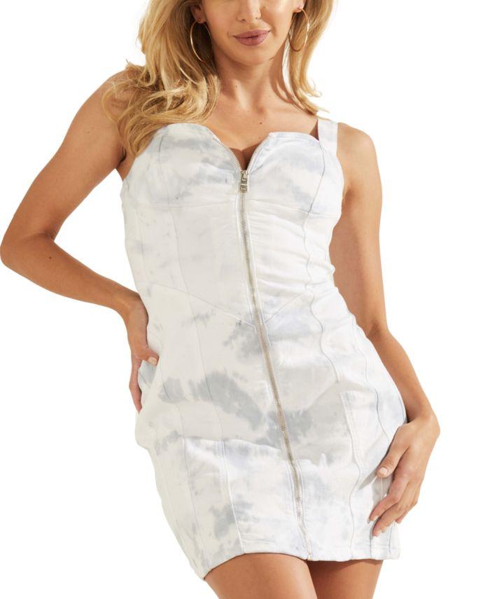 GUESS Ivy Denim Dress & Reviews - Dresses - Women - Macy's
