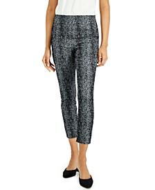 Petite Jacquard Pants, Created for Macy's