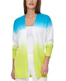 Cotton Dip-Dyed Long Cardigan
