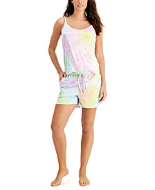 Tie-Dyed Cami & Shorts Loungewear Set, Created for Macy's