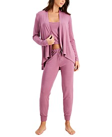 Super Soft Lounge Duster, Cropped Tank Top & Jogger Pants, Created for Macy's