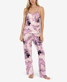 Women's Sunny Print Hacci 2 Piece Pajama Set
