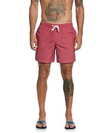 Men's Ditsy Retro Print Swim Shorts