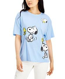 Juniors' Oversized Graphic T-Shirt