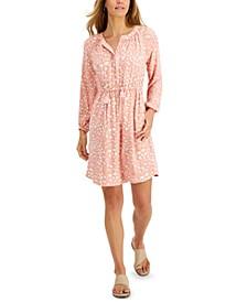 Petite Animal-Print Shirt Dress, Created for Macy's