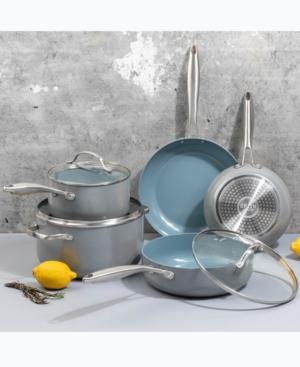Brooklyn Steel Co. Nebula 12-Pc. Aluminum & Ceramic Cookware Set