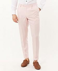 Men's Delave Linen Slim Fit Cropped Pant