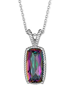 """Mystic Topaz 17-1/2"""" Pendant Necklace (5 ct. t.w.) in Sterling Silver (Also in Sky Blue Topaz)"""