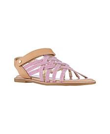 Little Girls Brianne Criss Cross Sandals