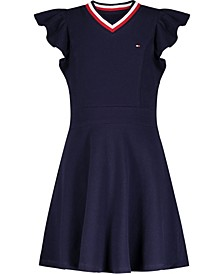 Toddler Girls Solid Ruffle Dress