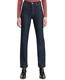 501 Button-Fly Straight-Leg Jeans