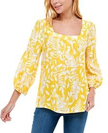 Women's 3/4 Sleeve Square Neck Blouse