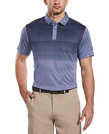 Men's Gradient-Stripe Golf Polo