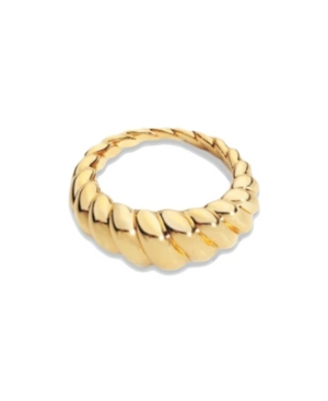 18k Gold Plated Croissant Ring