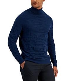 Men's Camo Texture Turtleneck Sweater, Created for Macy's