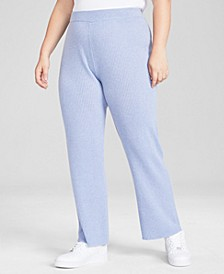 Plus Size Pull-On Cashmere Pants, Created for Macy's