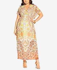 Plus Size Saffron Mirror Maxi Dress