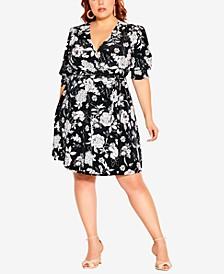 Plus Size A-Line Floral Dress