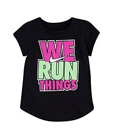 Toddler Girls We Run Things Tee