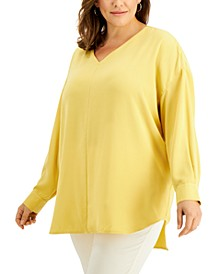 Plus Size High-Low Tunic, Created for Macy's
