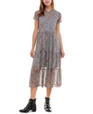 Juniors' Tiered Midi Dress