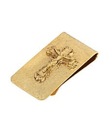 14K Gold-Dipped Crucifix Money Clip