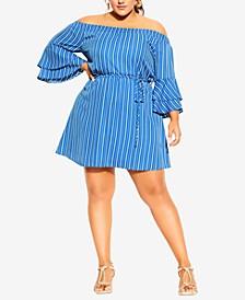 Trendy Plus Size Sunshine Stripe Dress