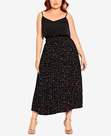 Trendy Plus Size Prism Spot Skirt