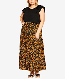 Trendy Plus Size Serengeti Skirt
