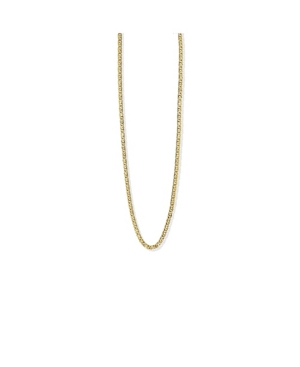 Textured Oval Link Chain in 14k Gold over Sterling Silver