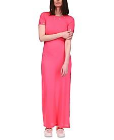 Petite Grommet-Trim Side-Slit Dress