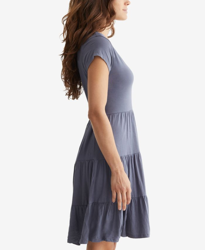 Lucky Brand Printed Tiered Babydoll Dress & Reviews - Dresses - Women - Macy's