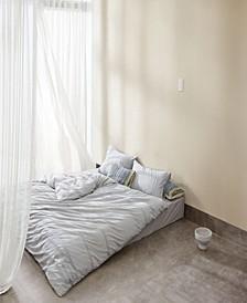 Core Melange Light Grey Duvet Set, Full/Queen