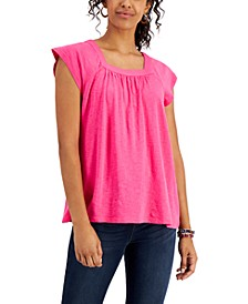 Solid Flutter-Sleeve Top, Created for Macy's