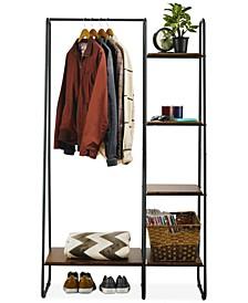 Freestanding 4-Tier Metal Garment Rack & Closet Organizer with Shelves