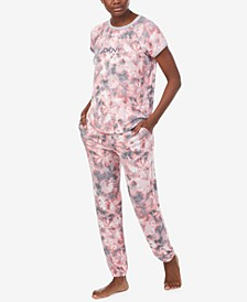 Printed T-Shirt & Jogger Pants Pajama Set
