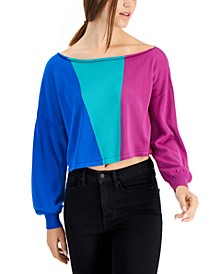 Colorblocked Crop Sweater, Created for Macy's