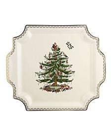 Christmas Tree Square Platter