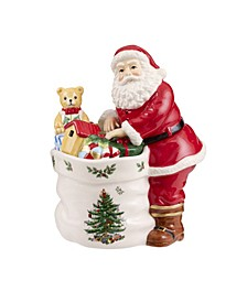 Christmas Tree Santa Candy Jar