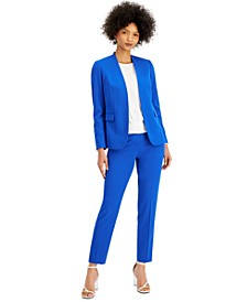 Collarless Open-Front Blazer & Straight-Leg Dress Pants, Created for Macy's