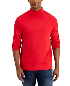 Men's Solid Mock Neck Turtleneck Shirt, Created for Macy's