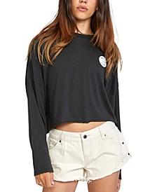 Juniors' Balance Long-Sleeve Tissue T-Shirt