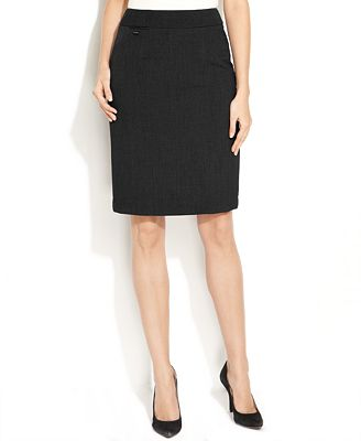 Calvin Klein Petite Pencil Skirt - Wear to Work - Women - Macy's