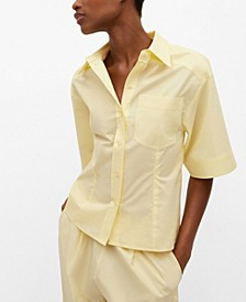 Flared Sleeve Cotton T-Shirt