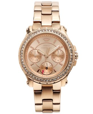 Juicy Couture Womens Pedigree Rose GoldTone Stainless Steel