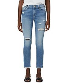 Lana Distressed Straight-Leg Jeans
