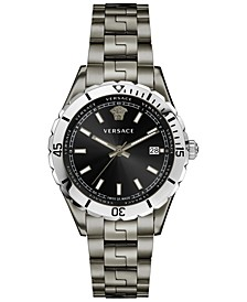 Men's Swiss Hellenyium Gunmetal Ion Plated Bracelet Watch 42mm